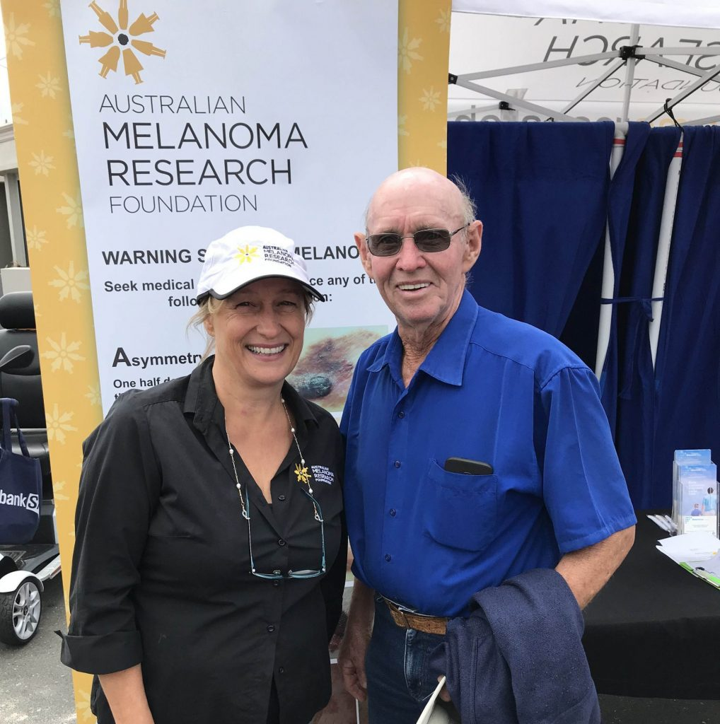 Trevor Chaston with AMRF CEO Julie Calvert