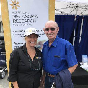 Trevor Chaston with AMRF CEO Julie Calvert