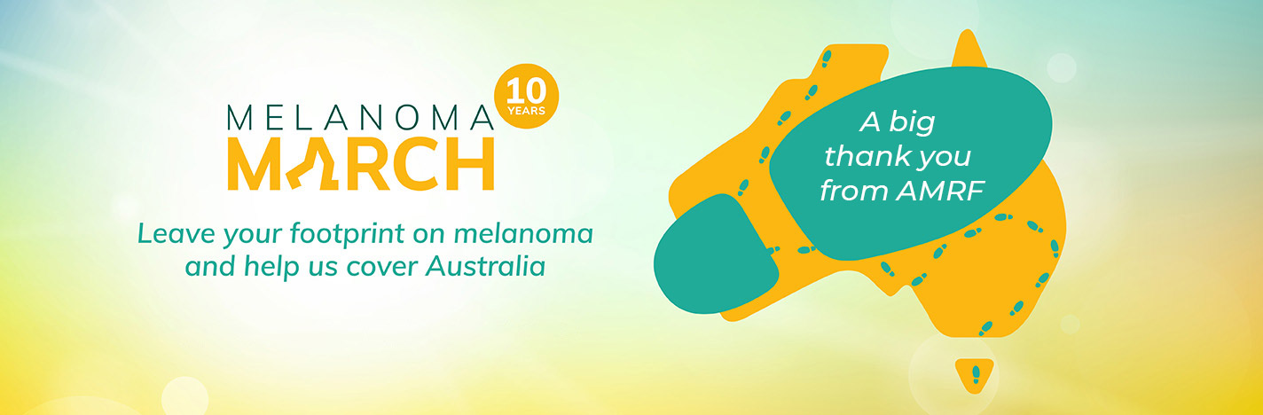 Melanoma March 2021 - A big thank you from AMRF